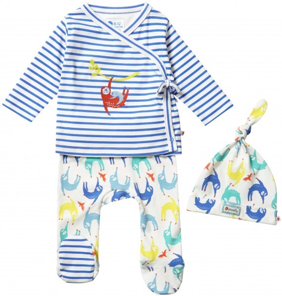 Piccalilly 3-teiliges Babyset - Faultier