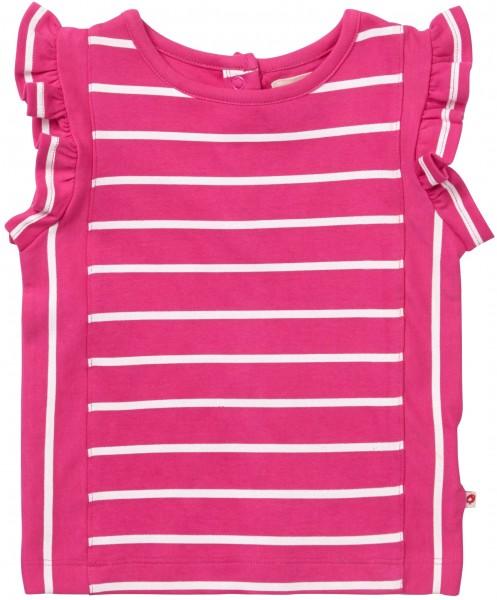 Piccalilly Rüschenweste - rosa Streifen