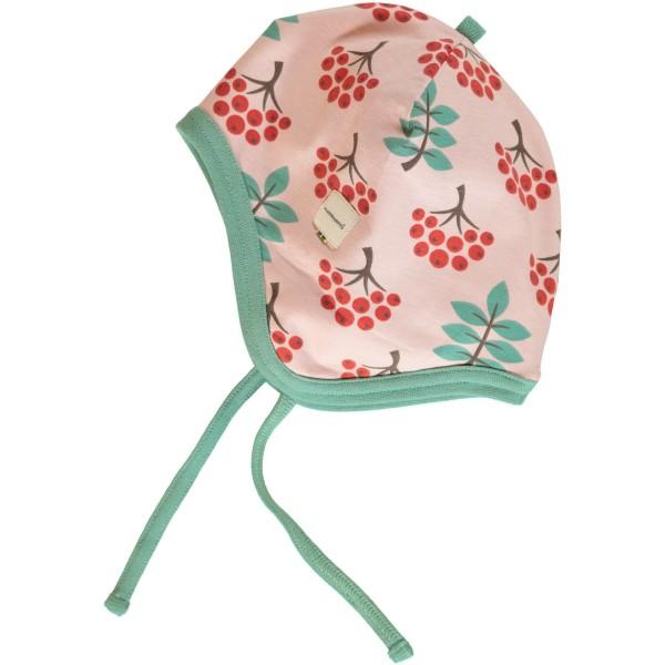 Maxomorra Mütze mit Bändel - Vogelbeeren
