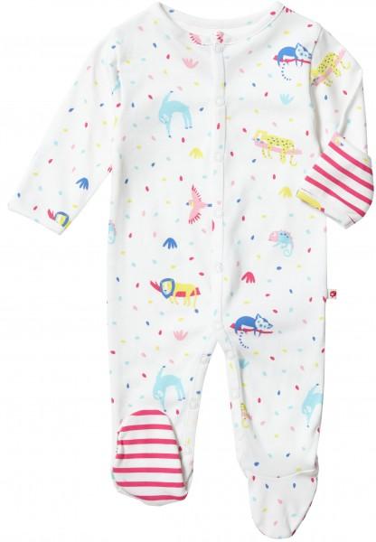 Piccalilly Pyjama mit Füssen - Regenwald