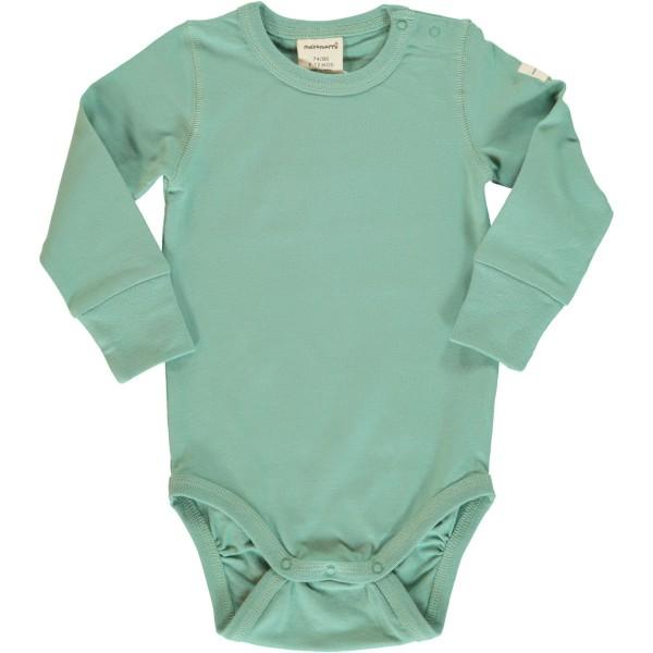 Maxomorra Body Langarm - Blaugrün