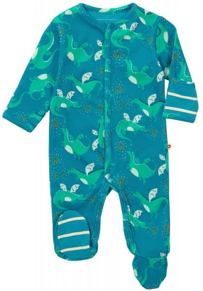 Piccalilly Pyjama mit Füssen - Drachen