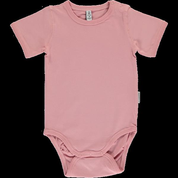 Maxomorra Body Kurzarm - Helles Pink
