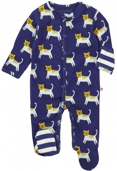 Piccalilly Pyjama mit Füssen - Tiger
