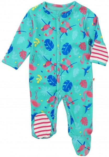 Piccalilly Pyjama mit Füssen - Tropisch