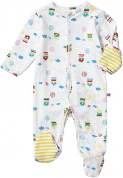 Piccalilly Pyjama mit Füssen - Biene