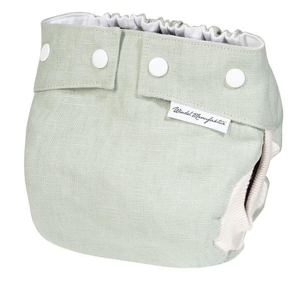 Windelmanufaktur Aussenwindel Matcha (Leinen) (Neugeborene)