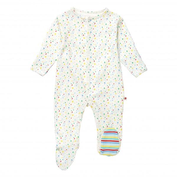 Piccalilly Pyjama mit Füssen - Stern & Mond