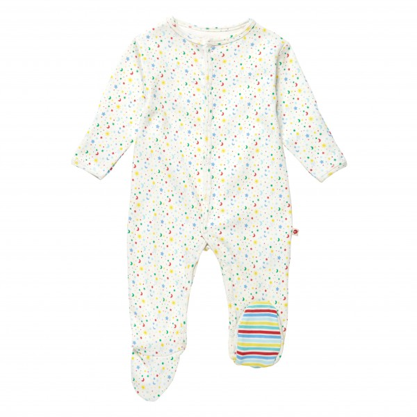 Piccalilly Pyjama mit Füßen - Stern & Mond