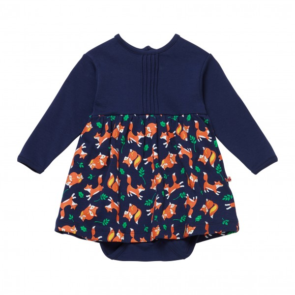 Piccalilly Baby-Body-Kleid Langarm - Fuchs