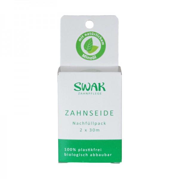 "SWAK-Zahnseide Nachfüllpack 2 x 30m ""Plastikfrei"""