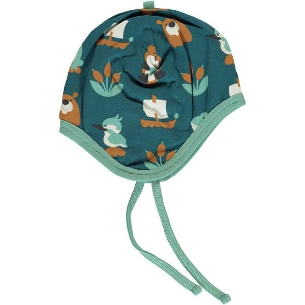 Maxomorra Mütze mit Bändel - Biber