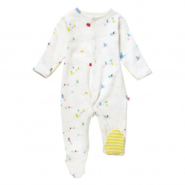 Piccalilly Pyjama mit Füssen - Nature
