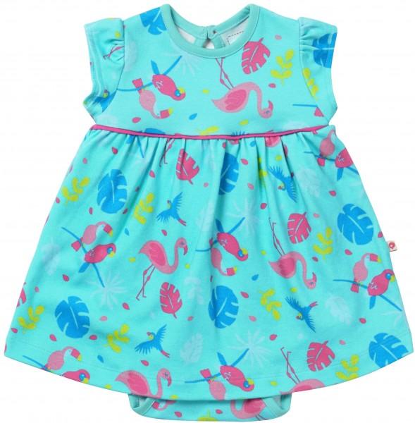 Piccalilly Baby-Body-Kleid Kurzarm - Tropisch